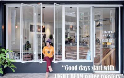 台中| LightBeam Coffee Roasters · 陽光灑落玻璃窗,點杯咖啡曬生活